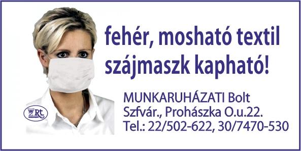 Fehér, mosható textil szájmaszk Székesfehérváron!